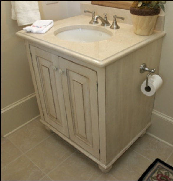How To Refinish Old Kitchen Cabinets: Antique White Cabinet Refinish