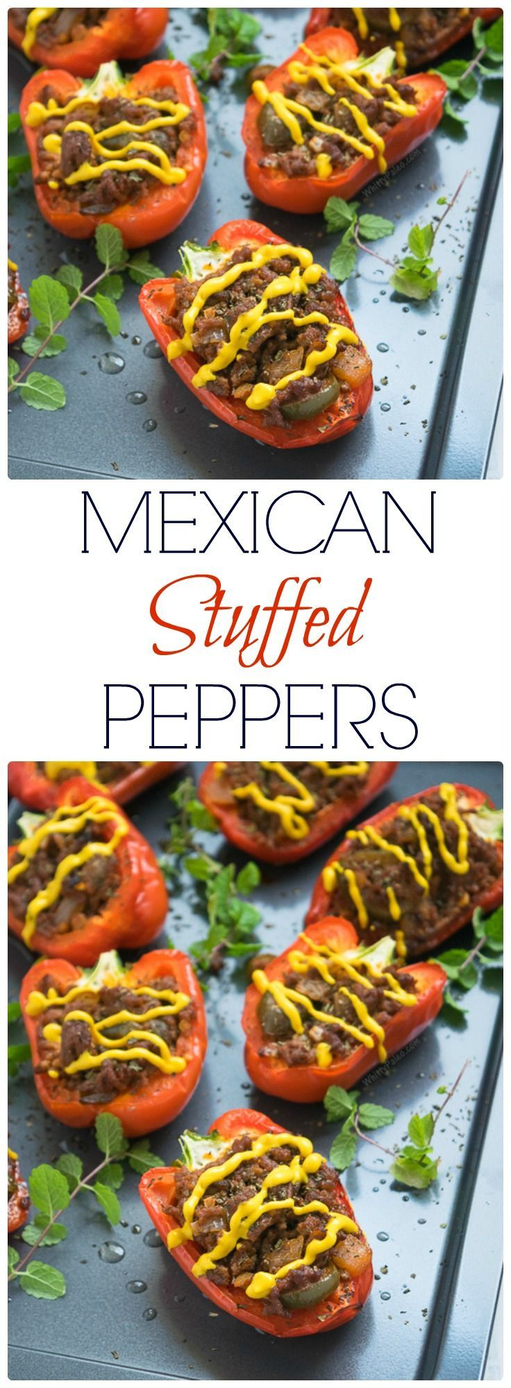 Easy Paleo Mexican Stuffed Peppers from WhittyPaleo.com