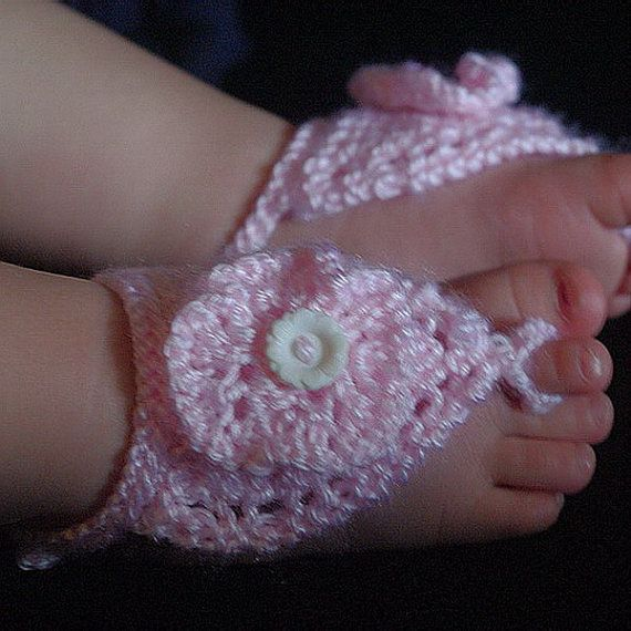 Knitting Pattern for Barefoot Sandals for Baby or by PurplePup