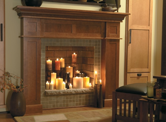Decorating Ideas > Medallion Cabinetry  Mantels And Fireplace Surrounds  ~ 201843_Open Fireplace Decorating Ideas