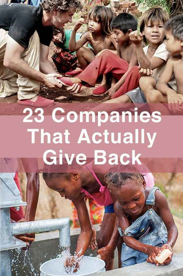 23 Charitable Companies That Actually Give Back- buying everything through these companies now!