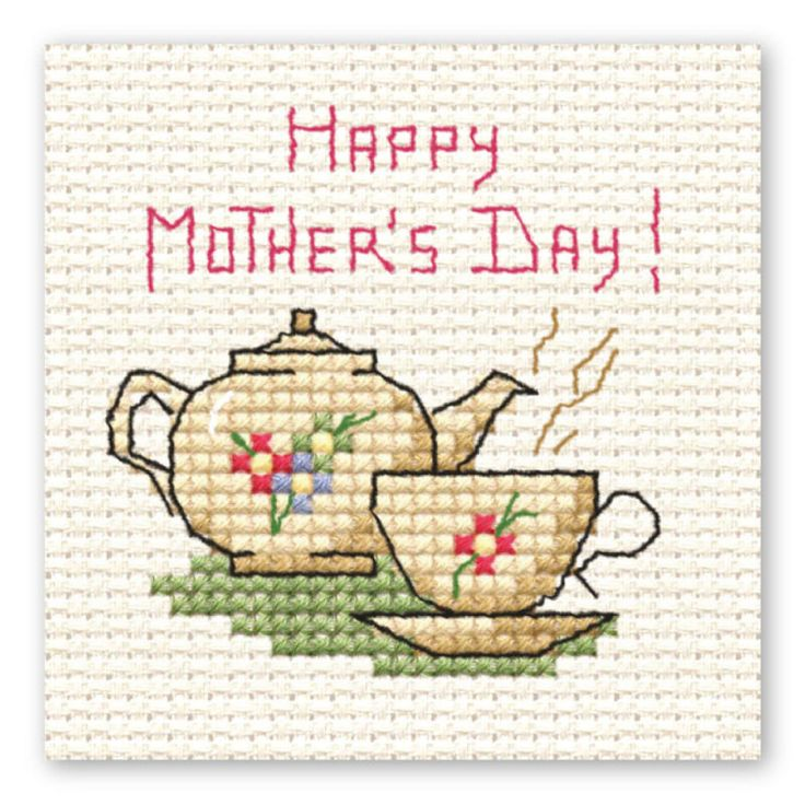 Mini Cross Stitch Mother'S Day Teapot | Hobbycraft #mothersdaygift #crossstitch #motherdaycraft
