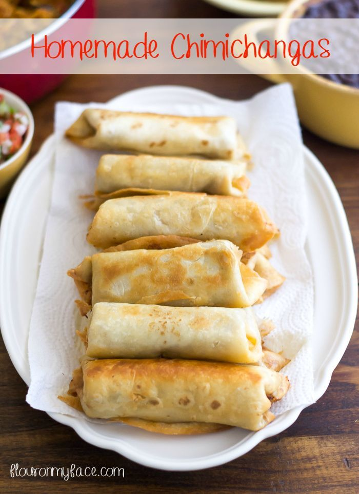 Authentic Homemade Chimichangas - Flour On My Face, ,