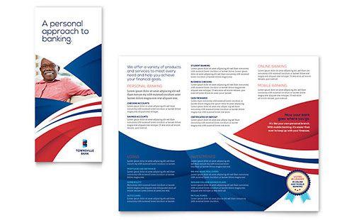 Bank - Sample Brochure Template - Word & Publisher