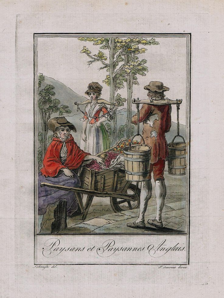 1780 England English Britain British Costume Engraving Antique Print
