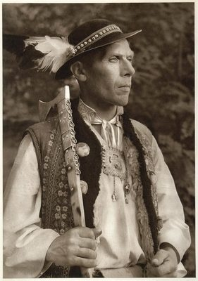 1953 Slovakian Peasant Man Costume Kroje Zdiar Slovakia Original Photogravure | eBay