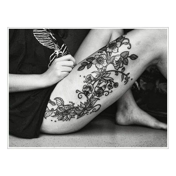 25 Best Ideas About Leg Tattoos On Pinterest: 40 BEAUTIFUL AND SEXY THIGH TATTOOS FOR WOMEN Liked On