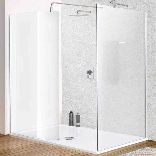 MX Twin Curved Walk-In Shower Enclosure, 1400mm x 900mm, Low Profile Tray, 8mm Glass £480