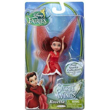 Disney Fairies Secret of the Wings Rosetta 4.5 inch Figure, Multicolor