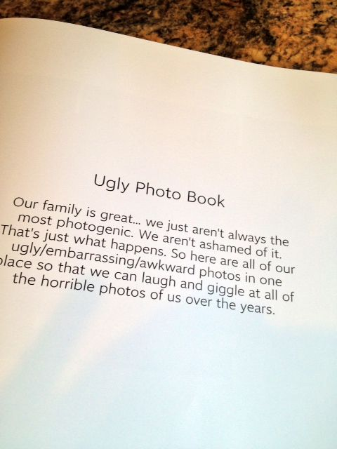 The Ugly Photo Book... what a great idea!