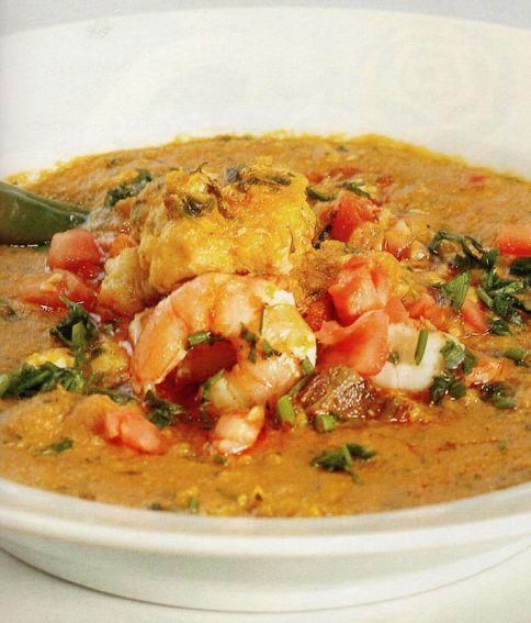 Vatapá (Brazilian seafood stew with coconut milk)