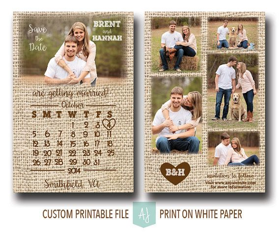 Printable wedding save the date with customization! Colors shown are examples only and any colors can be matched. Click through to see other sample colors or matching invites, thank you cards, and more. Purchase just the save the date or purchase a combination of files by choosing from the drop down menu online. Or shop our 1000+ ideas for all of life's journeys!