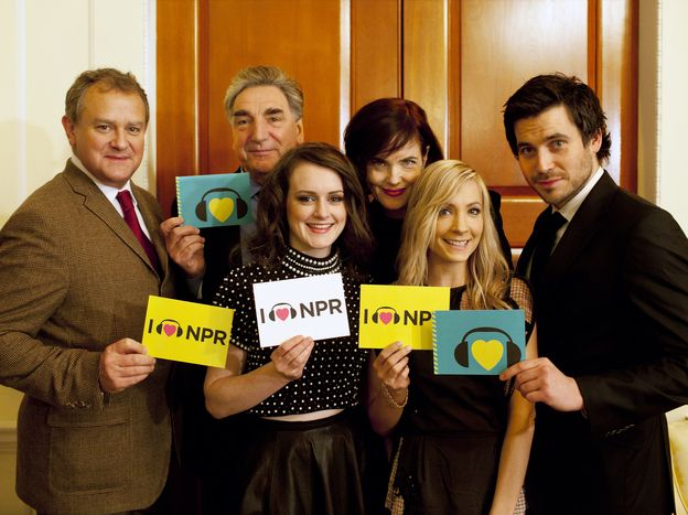 The Downton cast recently stopped by NPR to show their love and discuss the new season. (photo: Kainaz Amaria/NPR)