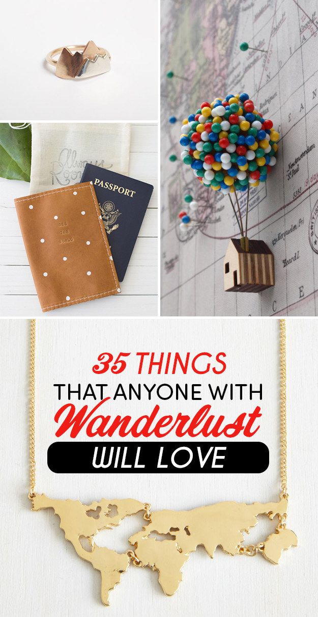"35 Things That Anyone With Wanderlust Will Love...I want all these things, especially the ""Up"" house :)"