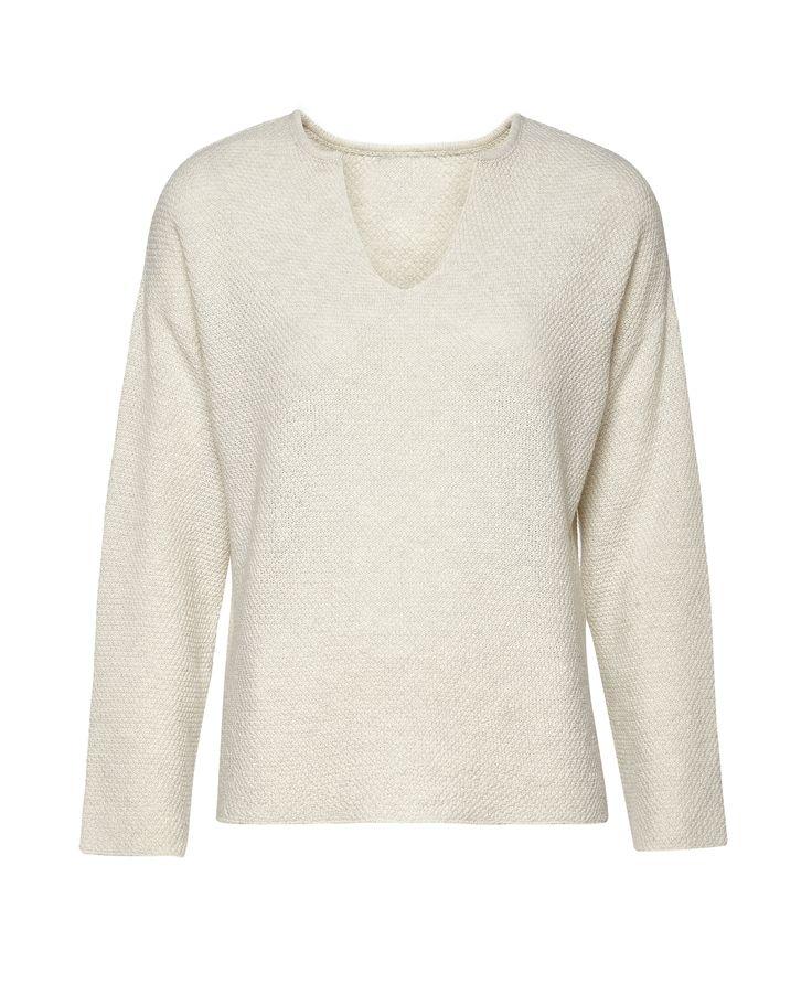 Creamy top EL GAUCHO from B SIDES LA AMERICANA collection (100% fine merino wool) #bsideshandmade #basiachrabolowska #sustainableknitwear