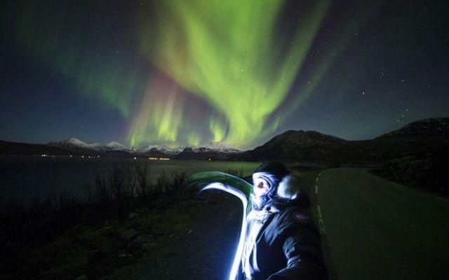 La magia dell'aurora boreale, una bellezza sovrannaturale, un'afflato che sa di angelico #auroraboreale #massimorodolfi