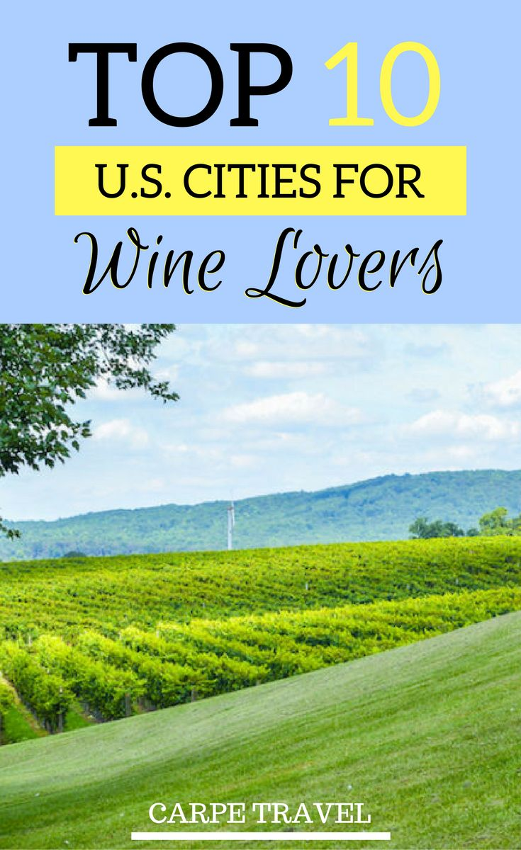 Napa Valley, but also Paso Robles, Finger Lakes... there are plenty of choices for wine lovers in the USA. Check out the best 10 US cities for wine lovers! | Wine tourism | USA wine map | USaA wine regions #winetime #winecountry #winelovers - via @elainschoch