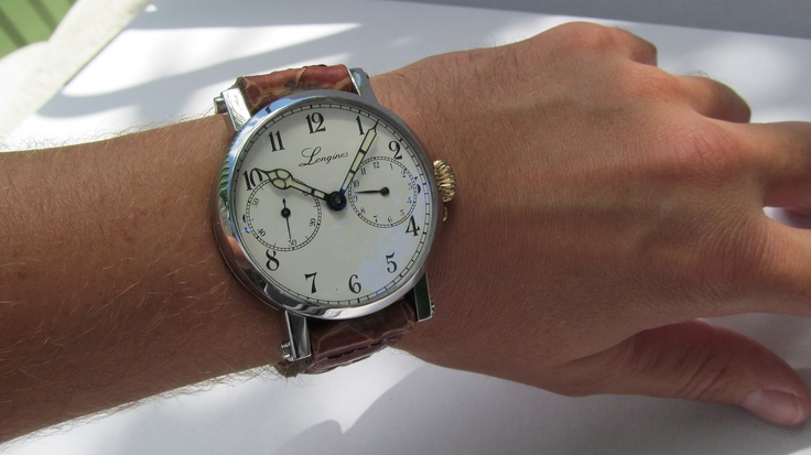 "Longines ""Le Grand Réveil"" movement from 1924 ... ""Saved by the European Watch Workshop"" ... video click: https://www.youtube.com/watch?v=Bg4vBK7k4iw"