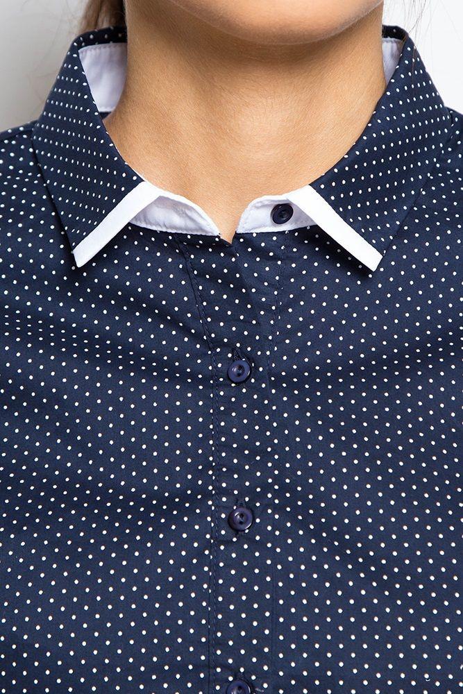 Блузка в горошек купить интернет магазин Шемарт