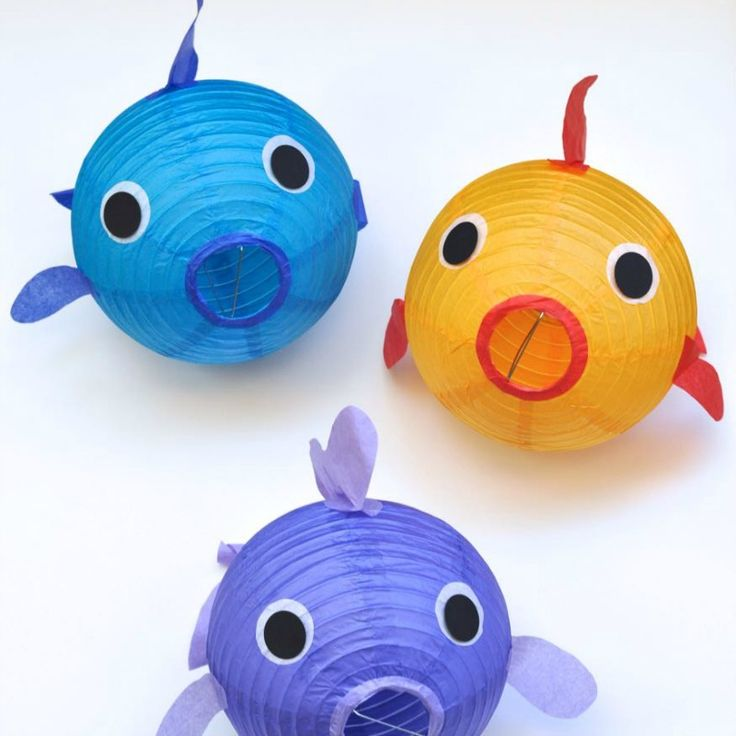 64 best bubble guppies party images on pinterest for Fish paper lanterns