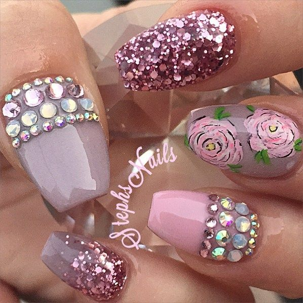 Acrylic Nail Game: 17 Best Ideas About Bling Nails On Pinterest