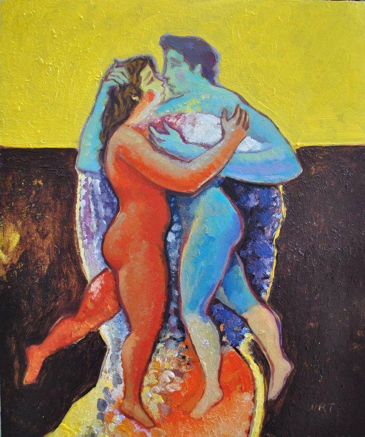 "Saatchi Art Artist ORT Andrea Ortuño; Painting, ""La gioia dell'amore - gaudia amant"" #art"
