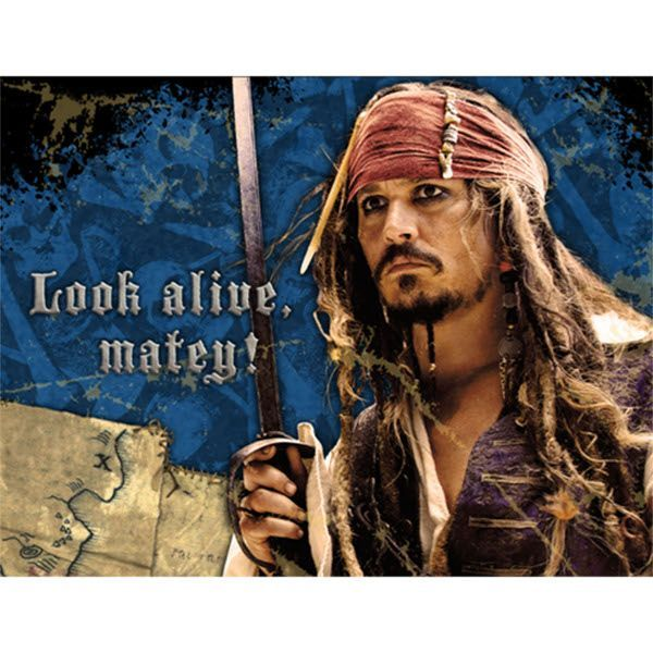 Pirates of the Caribbean Invitations 8ct