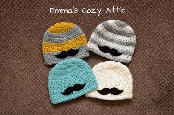 Newborn boy hat, baby boy hat, mustache beanie, newborn photo prop, baby shower gift, baby boy clothes, infant boy, mustache clothes on Etsy, $24.00