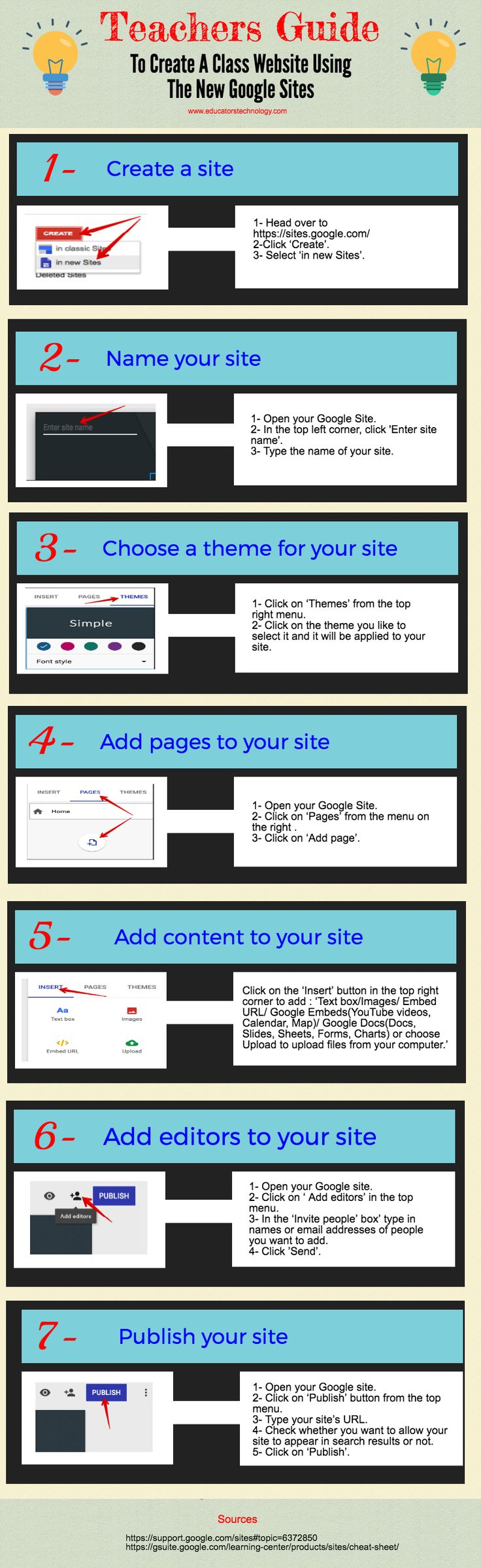 Teachers Guide to Create A Class Website Using The New Google Sites