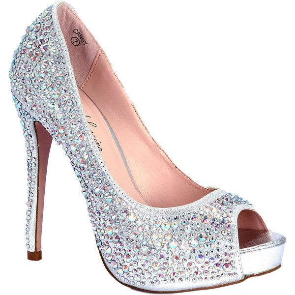 Silver Heels With Jewels