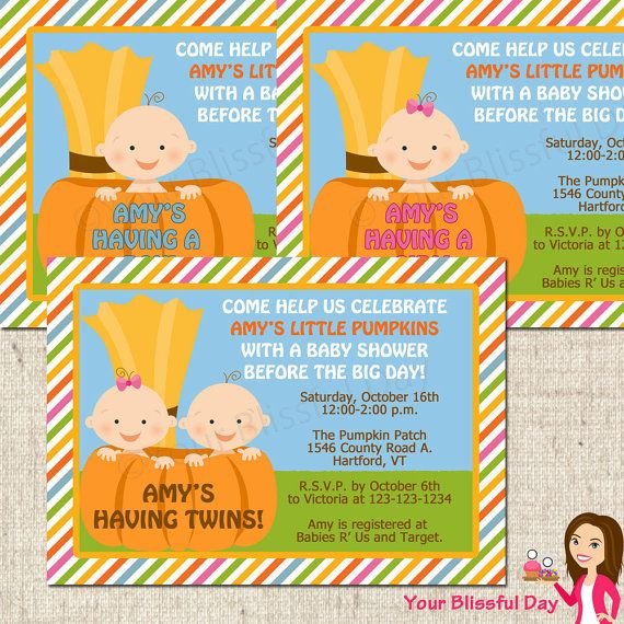 PRINTABLE Little Pumpkin Baby Shower Party by yourblissfulday, $10.00