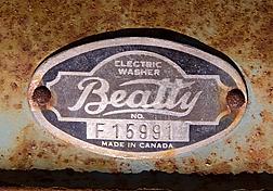 Beatty Washing Machine Plate
