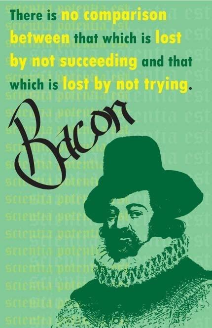 Sir Francis Bacon Print 11x17  Famous Seniors by senioritis, $15.00
