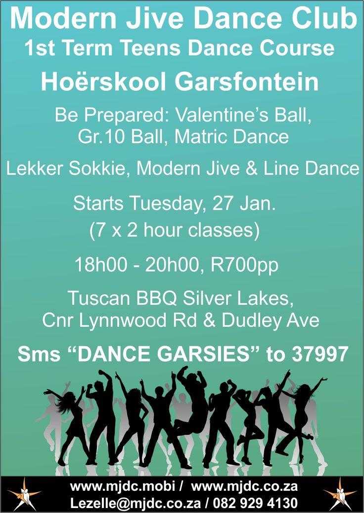 Modern Jive Dance Club - 1st Term Teens Dance Course www.mjdc.mobi / 082 929 4130