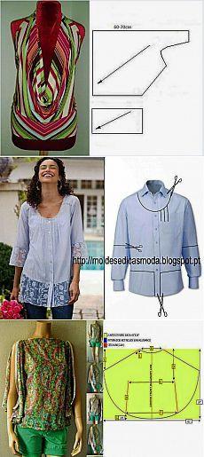 Бесплатные выкройки и идеи переделок одежды - огромная подборка (много фото) | Варварушка-Рукодельница