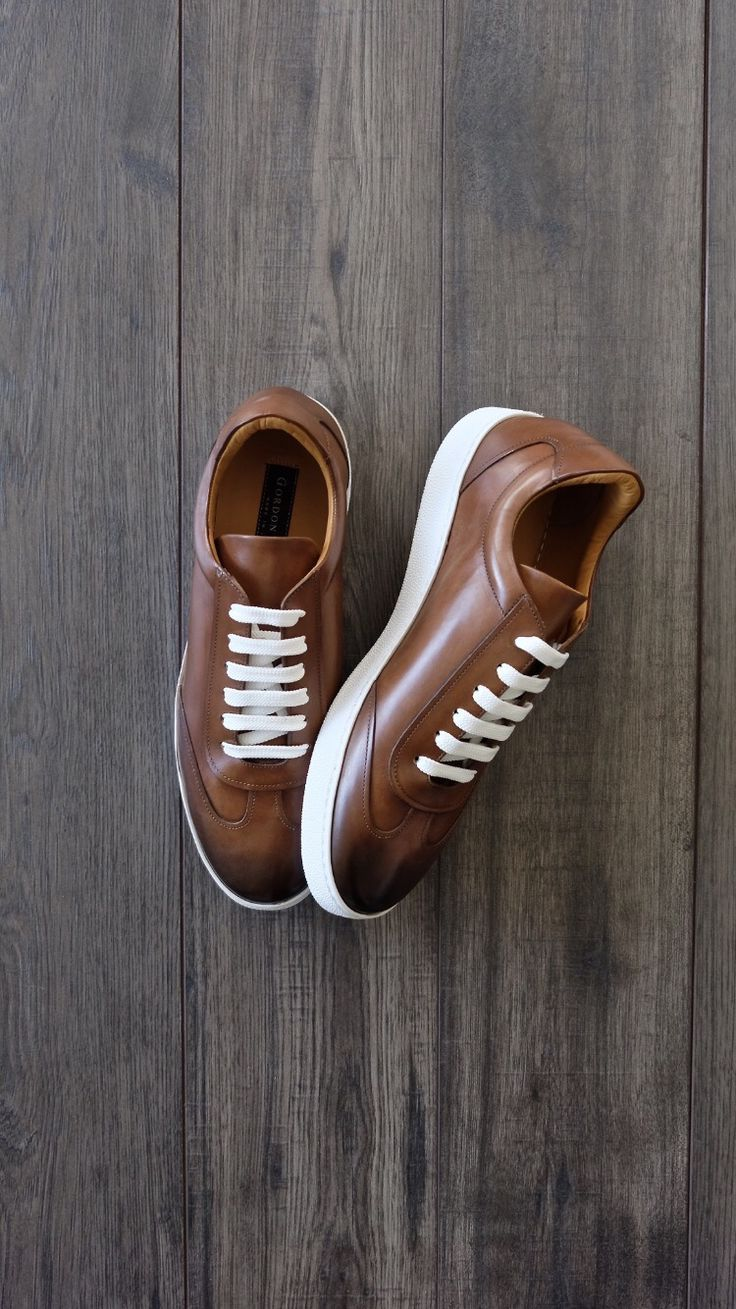 TRISTAN COGNAC LEATHER SNEAKER from