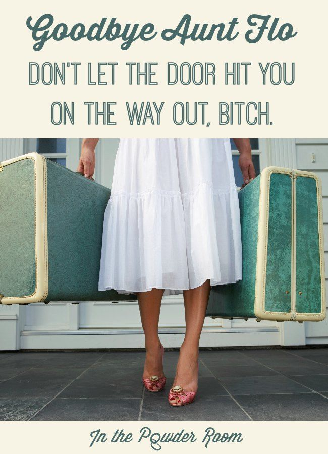 Parting is such sweet sorrow…or is it? One woman's true story about Aunt Flo's Farewell Tour and why you should always carry an emergency tampon! period humor   menstruation   women's health