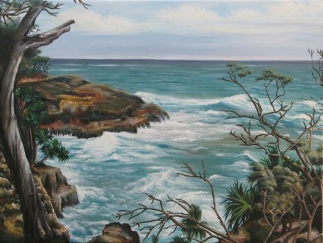 My first seascape!  Oil on canvas