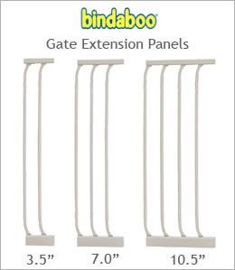 Metal Dog Gate with Door - White