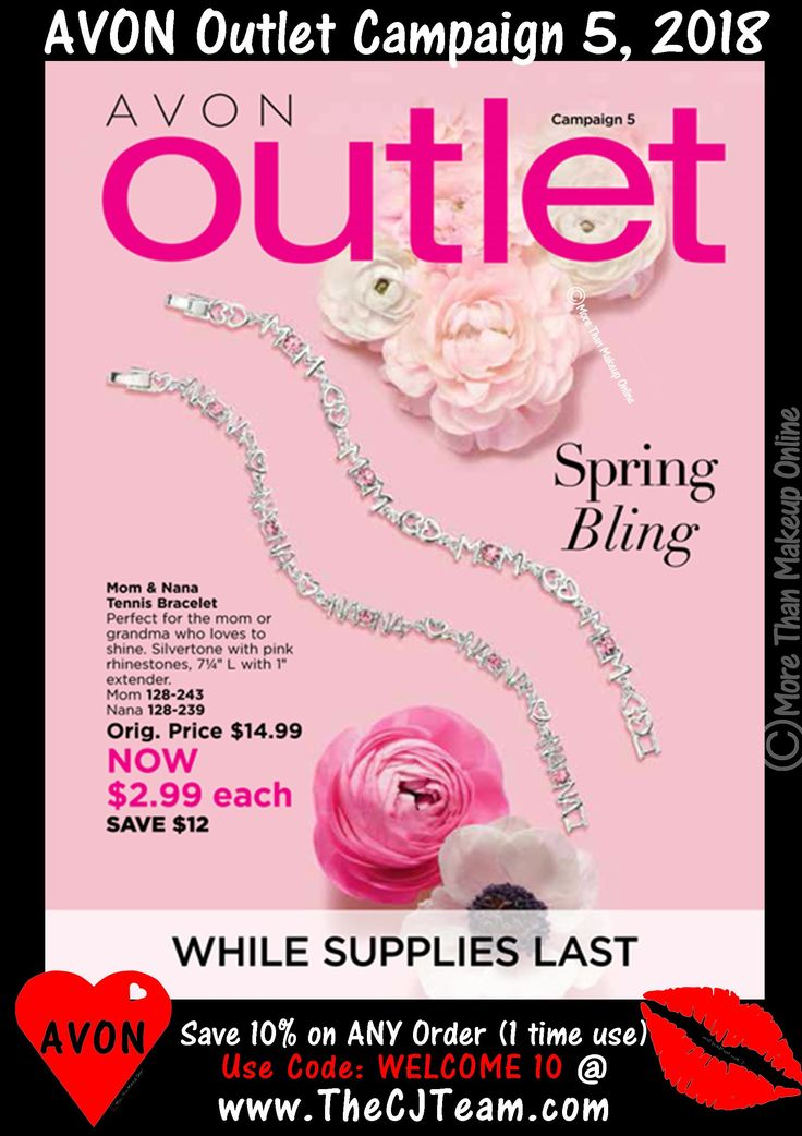 #Avon Campaign 5, 2018. Outlet Sale - Shop early, these are only available WHILE SUPPLIES LAST! Shop Avon Campaign 5, 2018. Outlet online  February 1-14, 2018. #Avon #CJTeam #C5 #Campaign5 #ShopNow #Sale #Outlet #Clearance #Gifts #WhileSuppliesLast #Jewelry #Makeup #SkinCare #HomeDecor Sell Avon Online www.CJTeam.us. Shop Avon Online & Save 10% off ANY size order with coupon code: WELCOME10 @ www.TheCJTeam.com