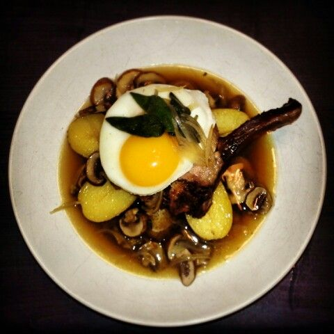 Brunch home smoked kassler- mush yukon golds&sage broth