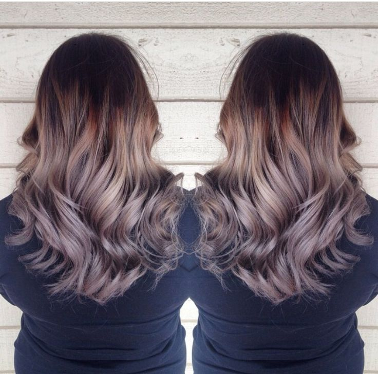 dark brown grey ombre