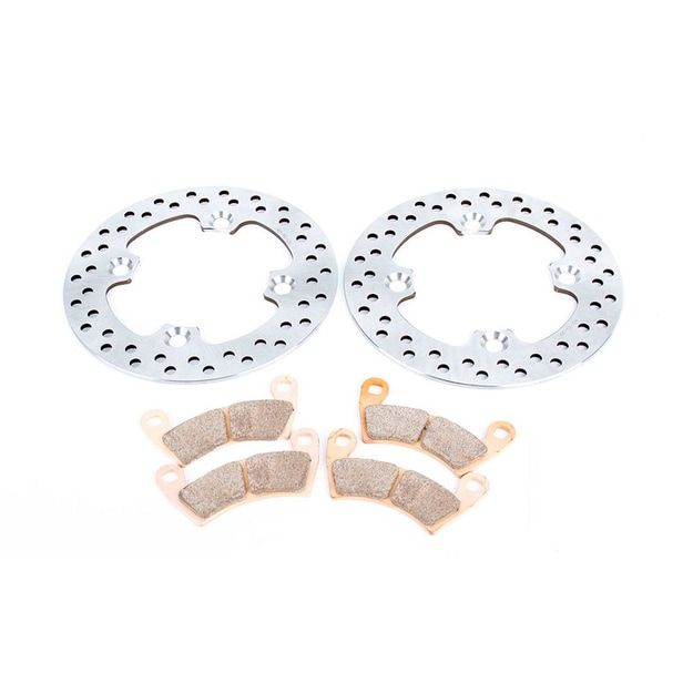 2016 Polaris Ranger XP 900 EPS Trail Edition Front Brake Rotors and Brake Pads, Silver stainless steel