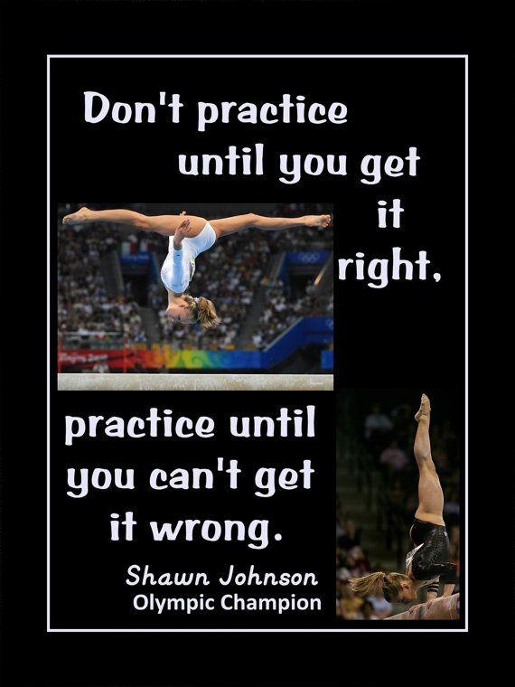 Gymnastics Motivation Poster Shawn Johnson Olympic Gymnast Photo Quote Print…