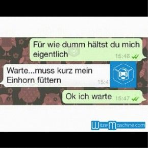 Lustige WhatsApp Bilder und Chat Fails 177 - Dummes Einhorn