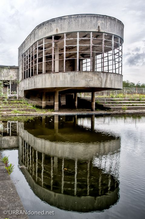This would make one hell of a summer house!!!  Bloso Outdoor is an abandoned outdoor sports facility near the Belgium village of Hofstade.