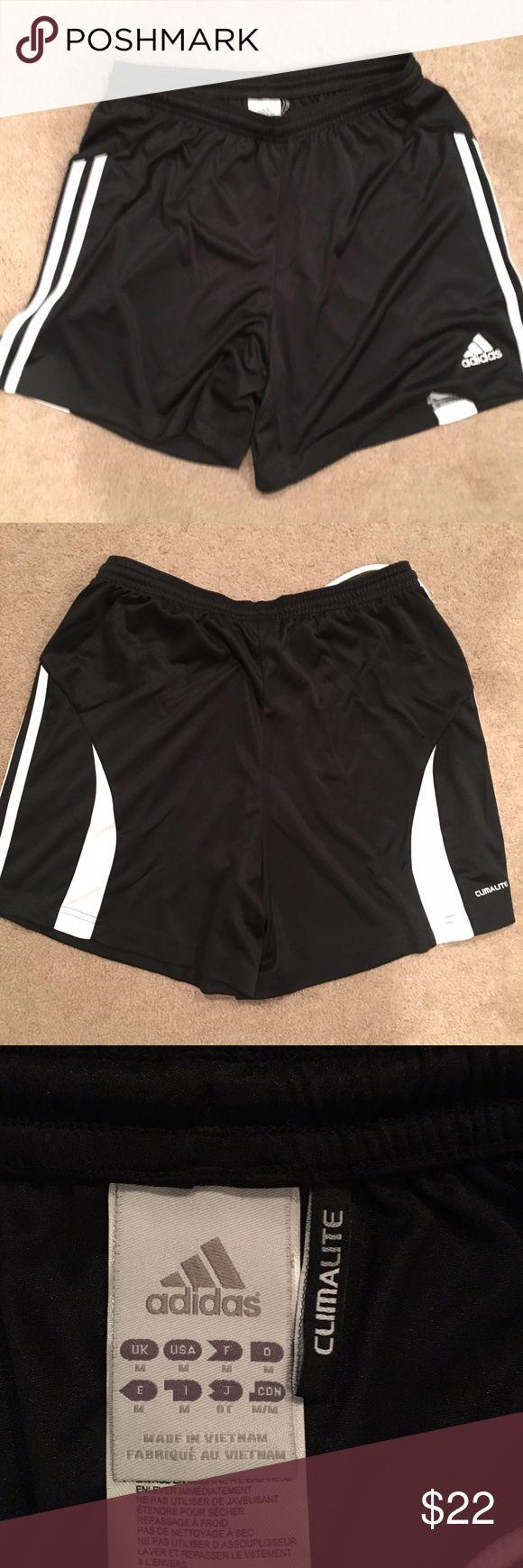 Adidas workout shorts black white accents. . Adidas workout shorts black white accents. CLIMALITE.       NWOT adidas Shorts