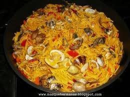 Recetas de cocina. Arroz De Chipi-Chipi (Almejas)