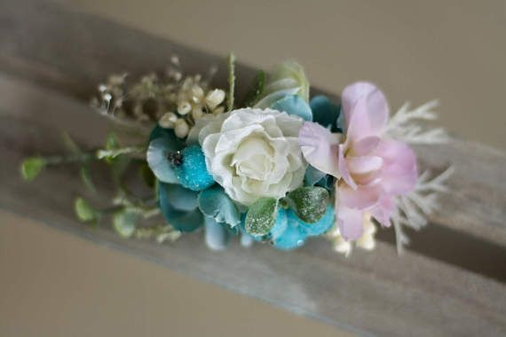 Flower hair clip pin by EvaFlowersDesigns on Etsy