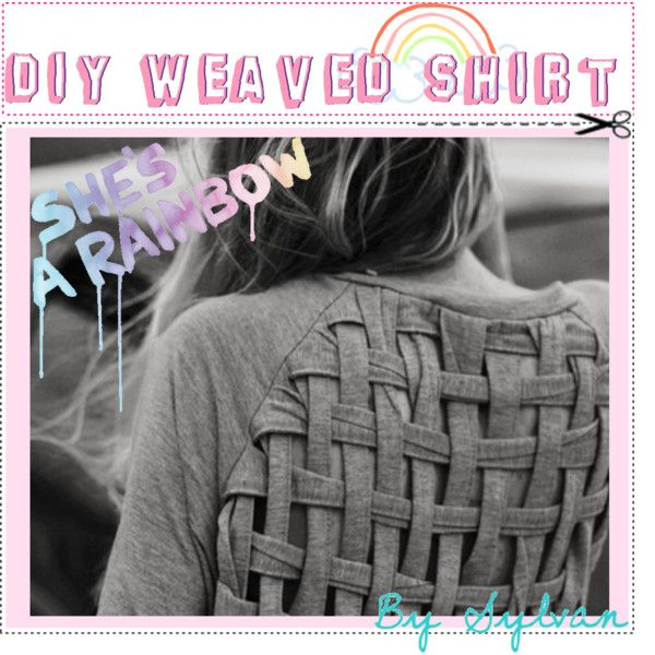 I've pinned the pic before, but here is the tutorialSweaters, Ideas, Fashion, Style, Diy Clothing, Diy Shirts, T Shirts, Criss Cross, Weaving